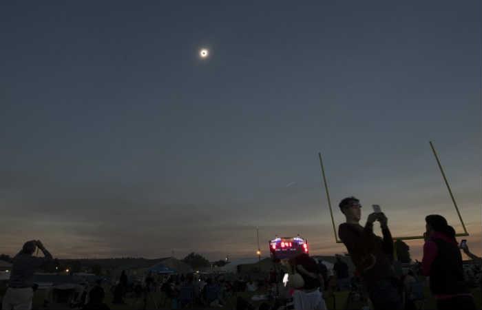 Eclipse solar: Primeras imágenes de este fenómeno astronómico