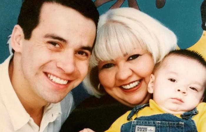 Polilla junto a su esposa 'La Gorda Fabiola' y su hijo. Foto: Instagram.