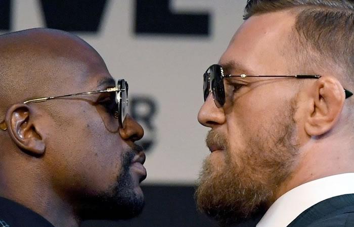 Mayweather vs. Conor McGregor. Foto: AFP