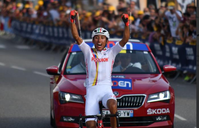 Egan Bernal gana la etapa 7 y se convierte en el líder del Tour de L'Avenir