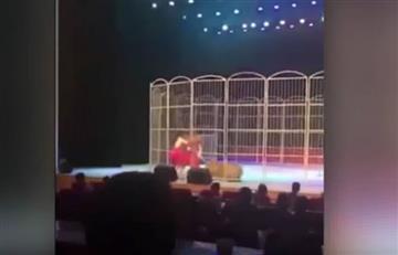 YouTube: El impactante ataque de un tigre a su domador