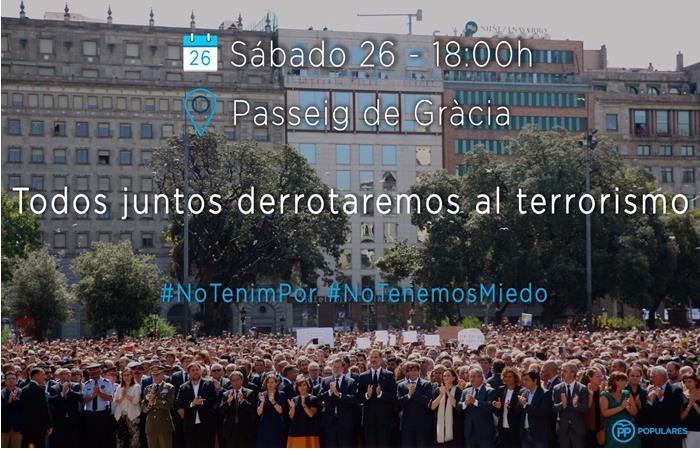 Barcelona: Manifestación bajo el lema 'No tinc por'