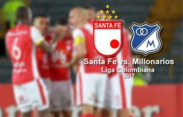 Santa Fe vs. Millonarios: Transmisión EN VIVO por TV, online y radio