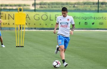 James Rodríguez demostró que ya está listo para jugar
