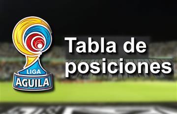 Liga Águila 2017-ll: Tabla de posiciones tras jugada la fecha 10