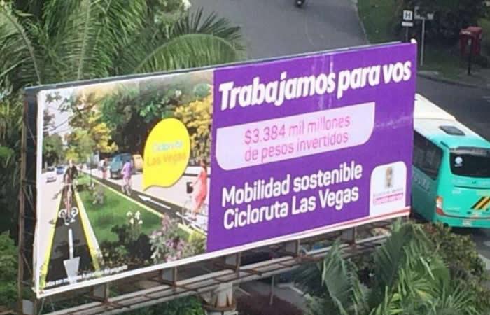 Alcaldía de Medellín es criticada por errores ortográficos en vallas