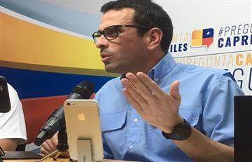 Henrique Capriles criticó la decisión de Venezuela al enviar ayuda a Houston