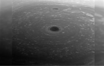 NASA comparte el primer plano del polo norte de Saturno