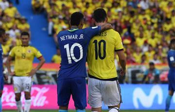 Colombia vs Brasil: ¿Qué hablaron Neymar y James Rodríguez?