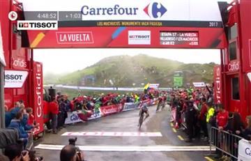 Vuelta a España: La intensa llegada de Miguel Ángel López a la meta