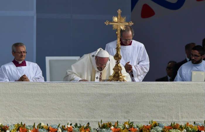 Galería: Monumental misa del papa Francisco en Bogotá