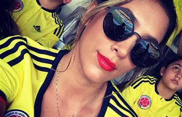 James Rodríguez: Daniela Ospina se puso la 10 para alentar a Colombia