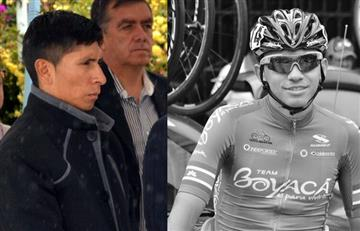 Nairo Quintana presente en el funeral del ciclista Cristian Sierra
