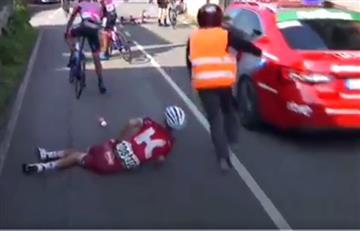 Vuelta a España: Los desgarradores gritos de un ciclista tras una caída
