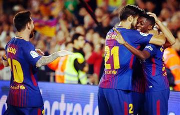 Barcelona golea al Espanyol y Dembélé tiene un gran debut