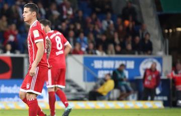 James Rodríguez por fin debutó con el Bayern Múnich en la Bundesliga