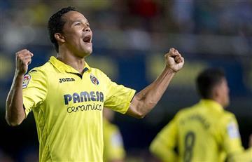 Carlos Bacca regresó al gol y consiguió su primera victoria con el Villareal