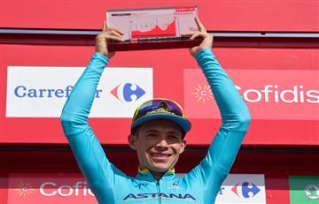 Miguel Ángel López subió al podio como 'Mejor joven' de la Vuelta a España
