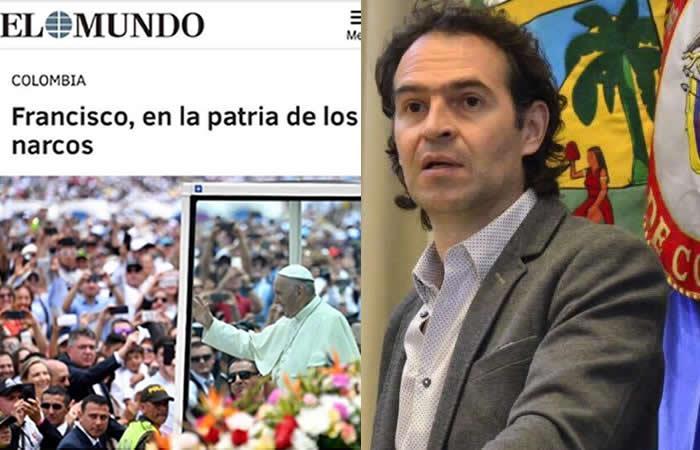 Alcalde Federico Gutiérrez criticó el titular del diario El Mundo