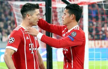 Bayern Múnich ganó con un James Rodríguez brillante