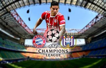 Champions League: Bayern Múnich vs Anderlecht EN VIVO