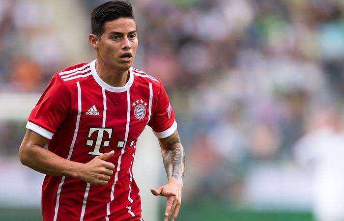 James Rodríguez titular con el Bayern en el debut de Champions