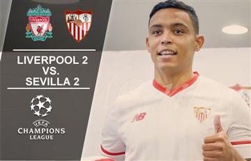 Luis Fernando Muriel protagonista en el empate del Sevilla y el Liverpool