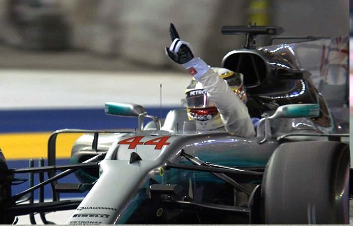 F1: Lewis Hamilton se impone en Singapur