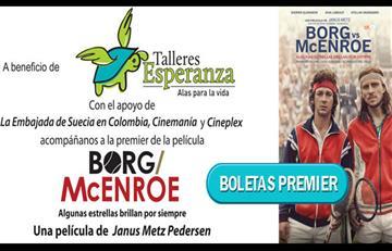 Cineplex te invita a la función benéfica de 'Borg Vs. McEnroe' para Talleres Esperanza