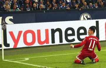 James Rodríguez: Así fue su primer gol oficial con el Bayern Múnich