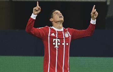 James Rodríguez: Asistencia y gol en la victoria del Bayern ante el Shalke