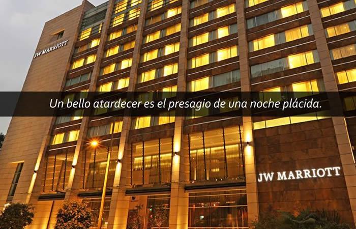JW Marriott Bogota, el arte del lujo