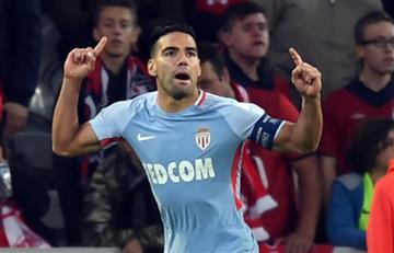 Falcao García anotó dos golazos en la victoria del Mónaco ante el Lille
