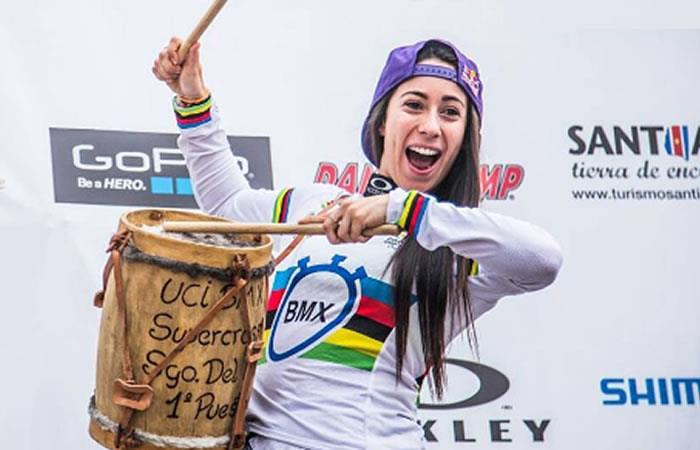 Mariana Pajón y su canción favorita antes de competir una contrarreloj