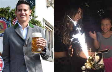 James Rodríguez en el Oktoberfest y Daniela Ospina festeja su cumpleaños