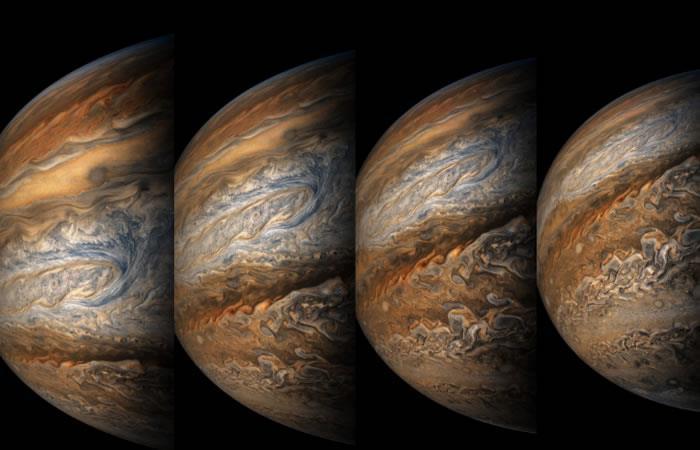 NASA: La sonda espacial Juno capta una increíble imagen de Júpiter