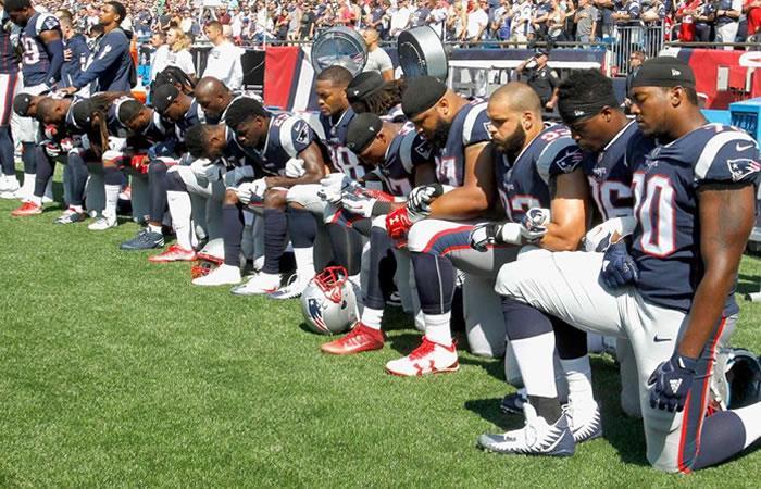 Miembros del Patriots de Nueva Inglaterra. Foto: AFP