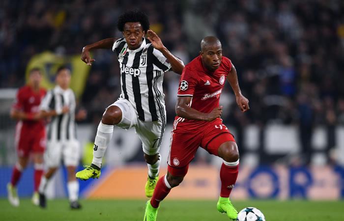Juventus de Juan Guillermo Cuadrado ganó al Olympiacos