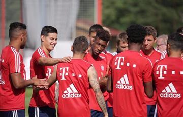 James Rodríguez: Así fue su primer día sin Ancelotti en el Bayern
