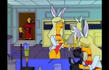 Hugh Hefner: Los Simpson homenajearon el amor secreto del dueño de Playboy