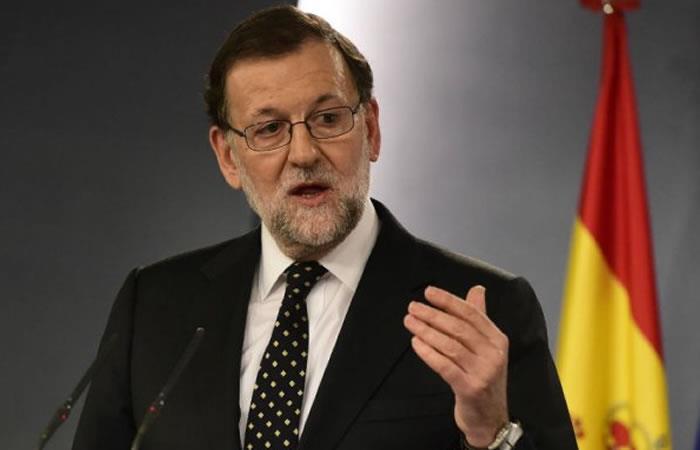 Presidente de España habla de los problemas en Cataluña con el referendo. Foto: AFP