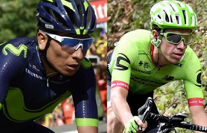 Así quedaron Nairo Quintana y Rigoberto Urán en La Tre Valli Varesine