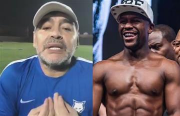 """Maradona contra Mayweather: """"Lo agarro y lo mato"""""""