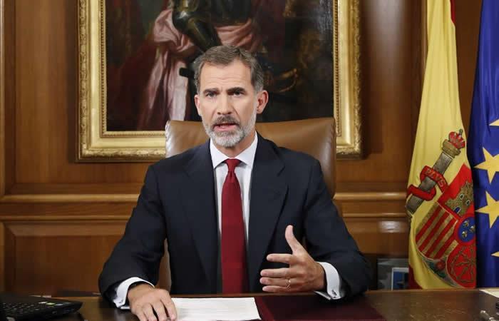 Rey de España pide al Estado instaurar el orden tras el referéndum catalán