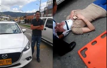 Conductor en Cajicá atropelló a una mujer de manera intencional