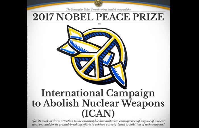 Premio Nobel de Paz 2017: Campaña antinuclear ICAN
