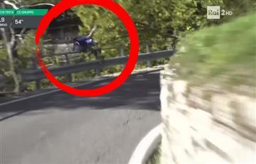 Ciclista protagonizó una terrible caída en Lombardía