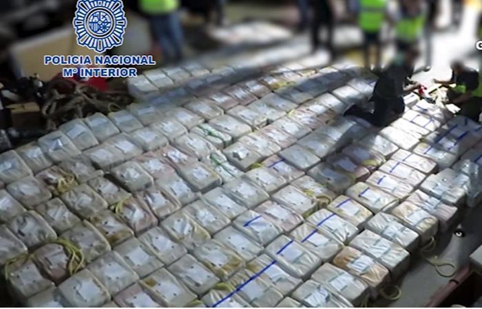 Policía española incautó 4 toneladas de cocaína que provenía de Colombia
