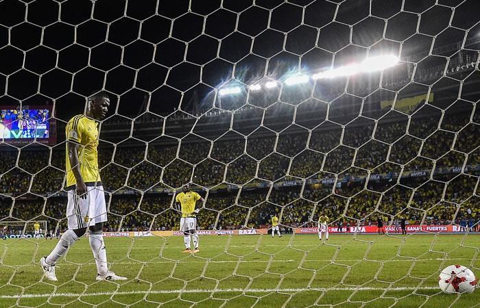 La Selección Colombia firmó su peor campaña de local en el 'Metro'. Foto: AFP
