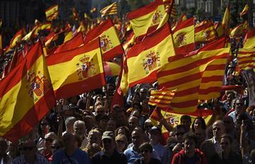 Barcelona: Gran manifestación contra la independencia de Cataluña